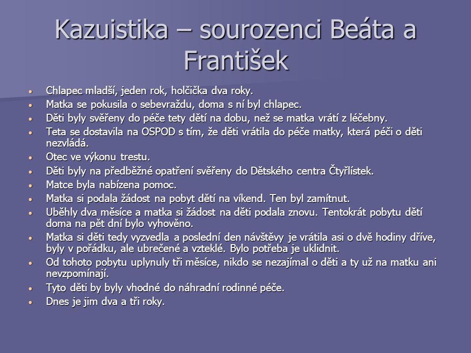 Kazuistika – sourozenci Beáta a František