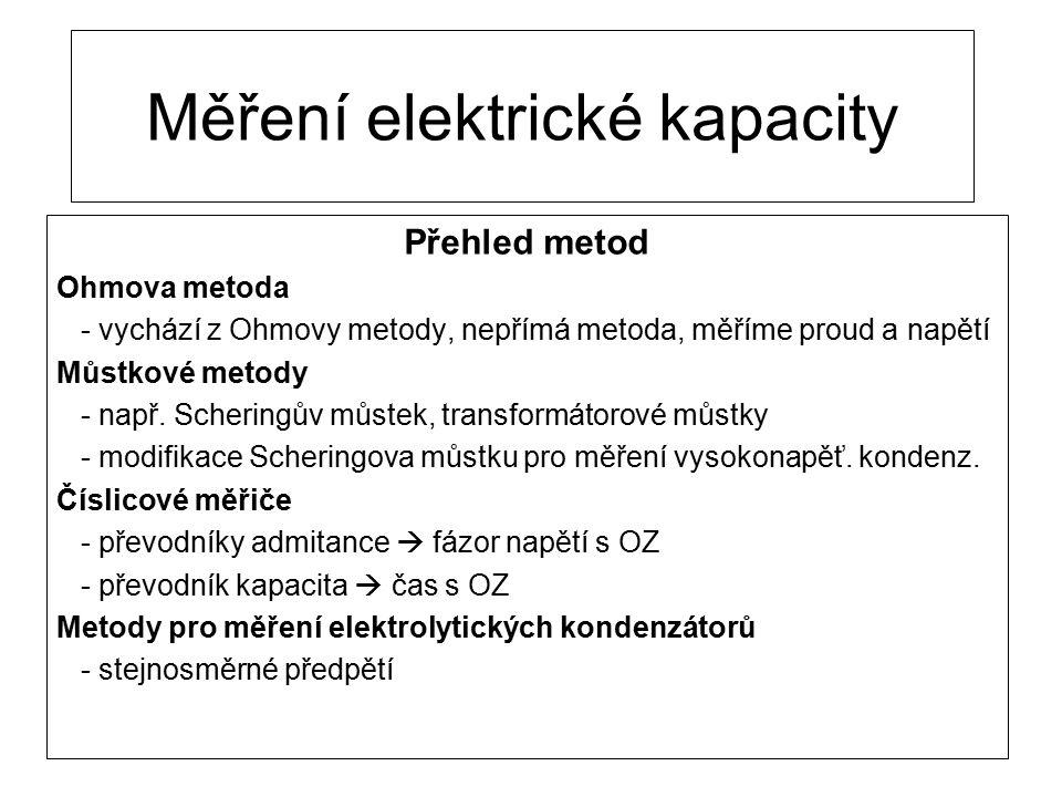 Měření elektrické kapacity