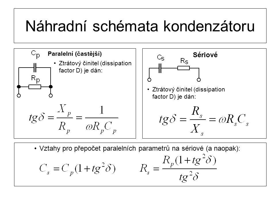 Náhradní schémata kondenzátoru