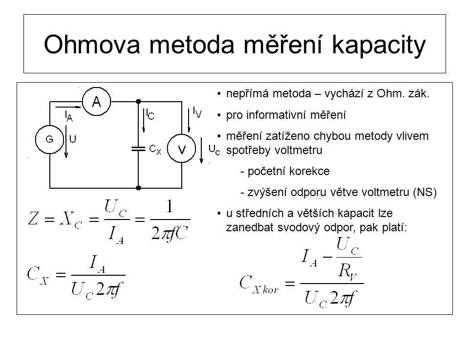 Ohmova metoda měření kapacity