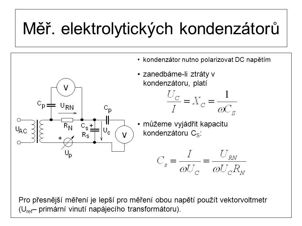 Měř. elektrolytických kondenzátorů