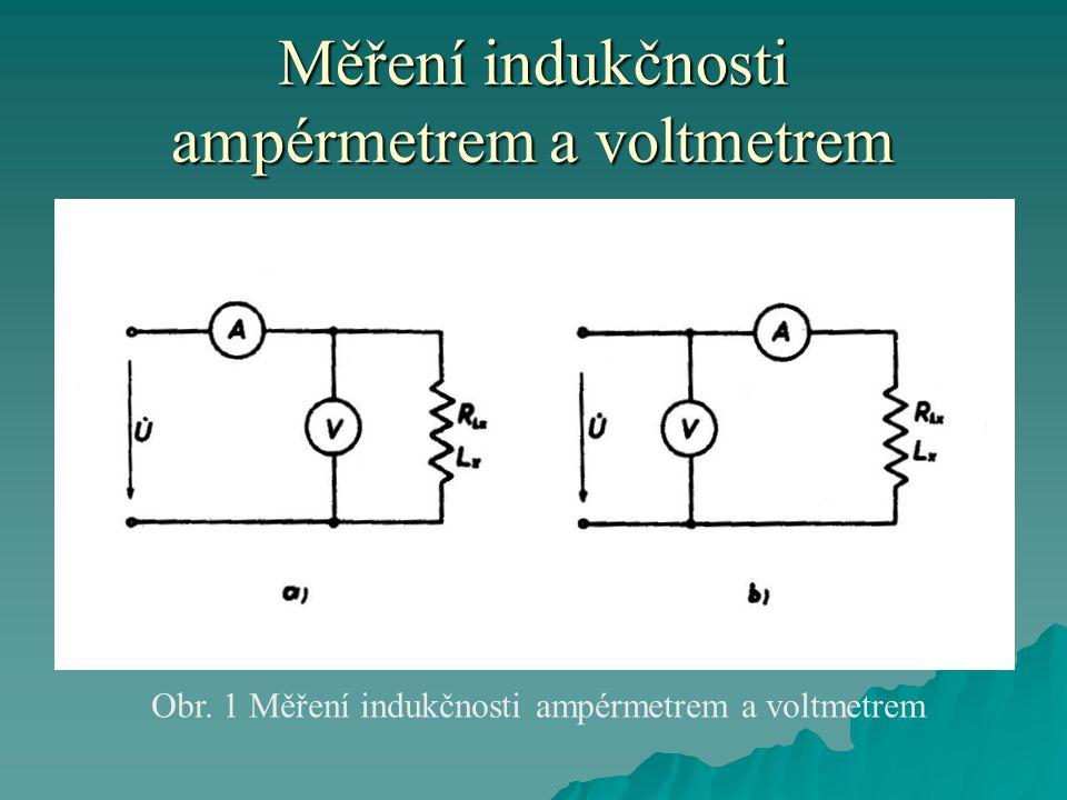 Měření indukčnosti ampérmetrem a voltmetrem