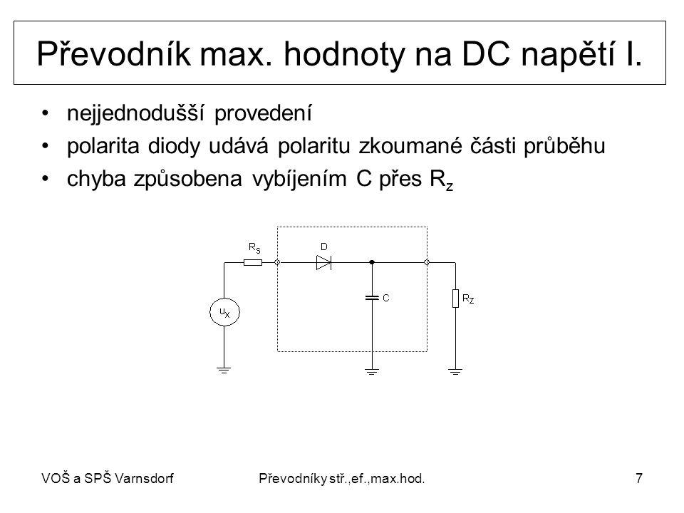 Převodník max. hodnoty na DC napětí I.