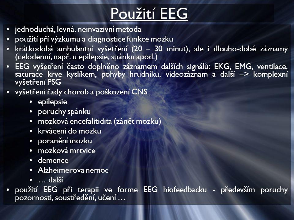 Použití EEG jednoduchá, levná, neinvazivní metoda