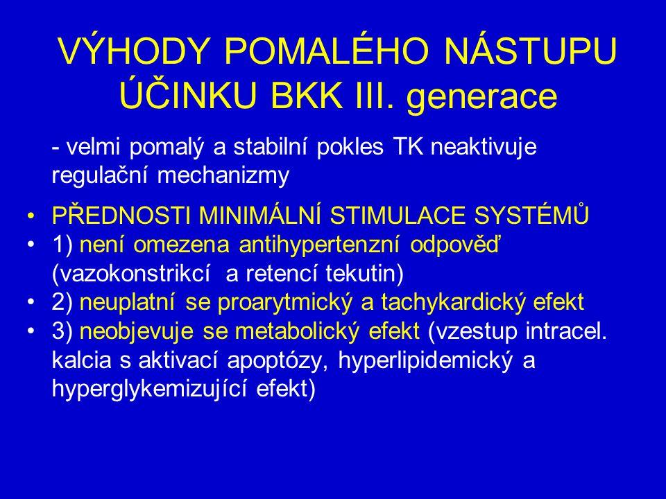 VÝHODY POMALÉHO NÁSTUPU ÚČINKU BKK III. generace