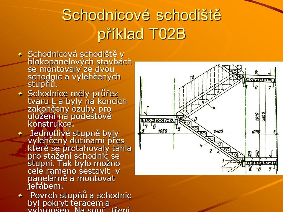 Schodnicové schodiště příklad T02B