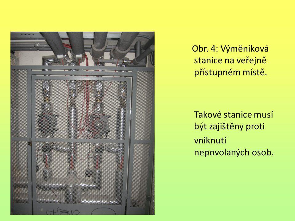 Obr. 4: Výměníková stanice na veřejně přístupném místě