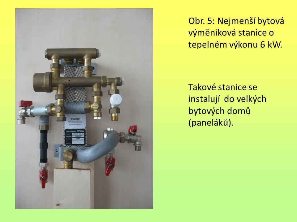 Obr. 5: Nejmenší bytová výměníková stanice o tepelném výkonu 6 kW