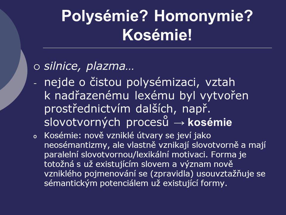 Polysémie Homonymie Kosémie!