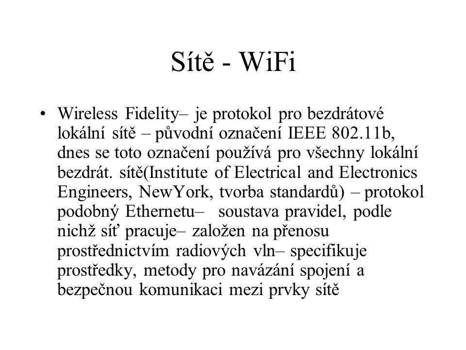 Sítě - WiFi