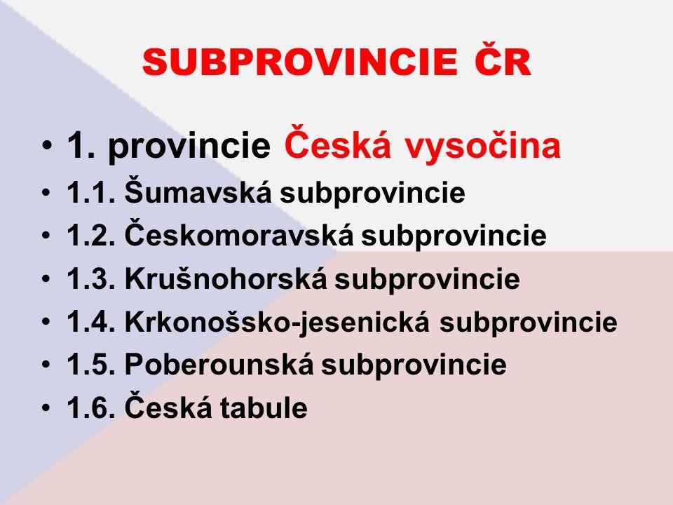 1. provincie Česká vysočina
