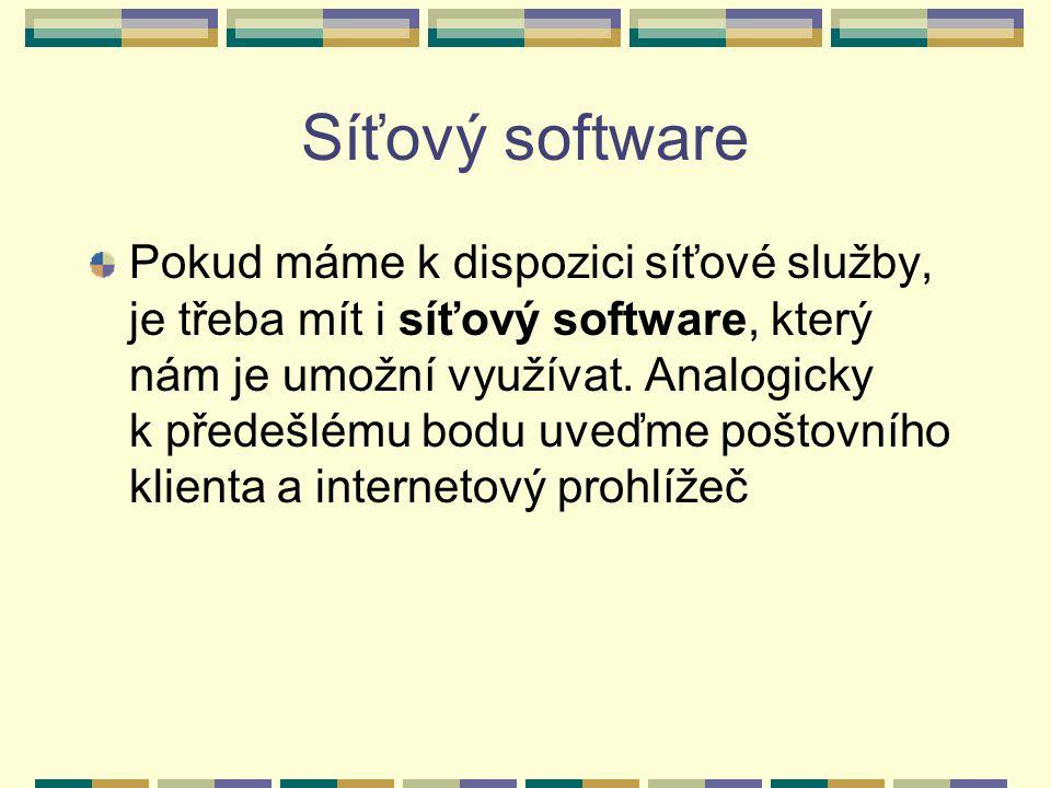 Síťový software