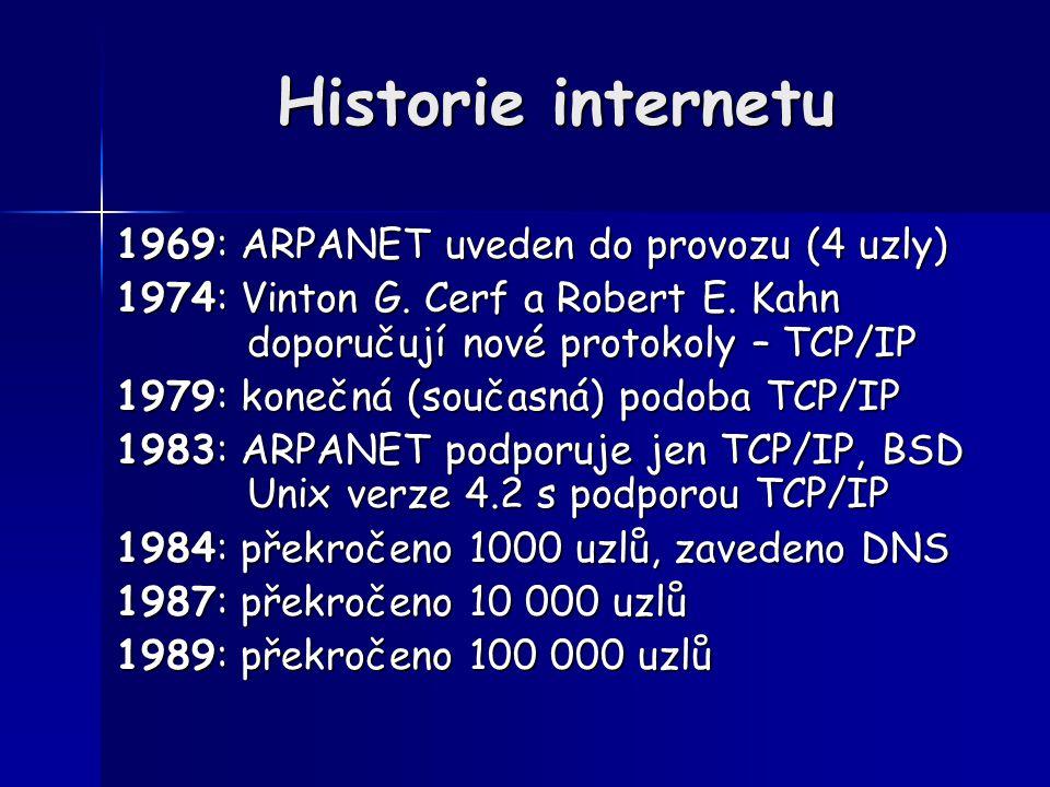 Historie internetu 1969: ARPANET uveden do provozu (4 uzly)