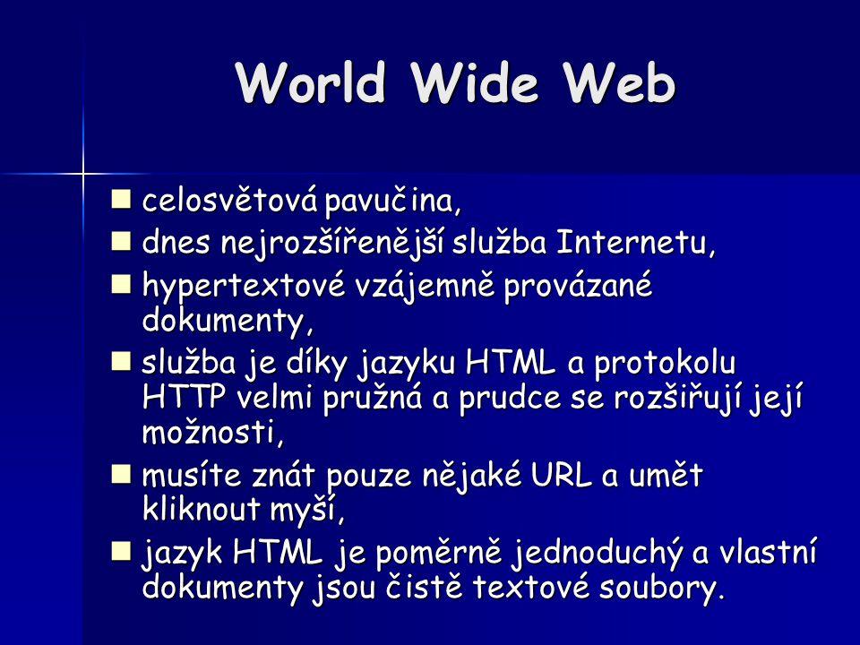 World Wide Web celosvětová pavučina,