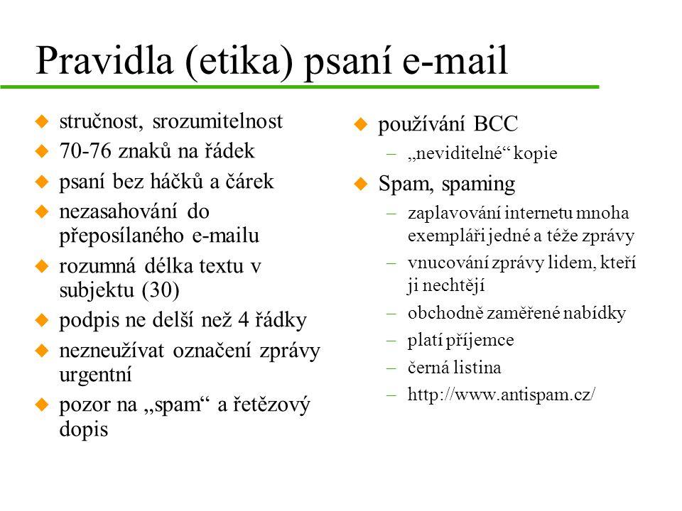 Pravidla (etika) psaní e-mail