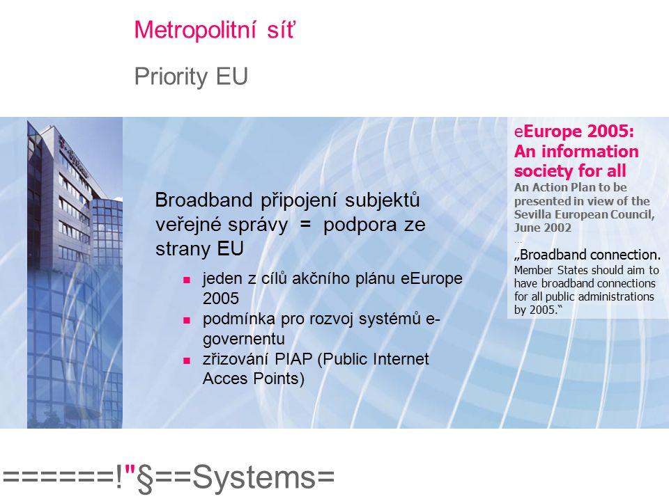 Metropolitní síť Priority EU