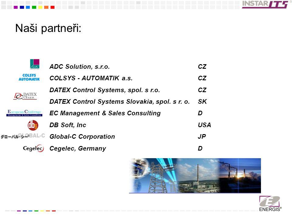 Naši partneři: ADC Solution, s.r.o. COLSYS - AUTOMATIK a.s.