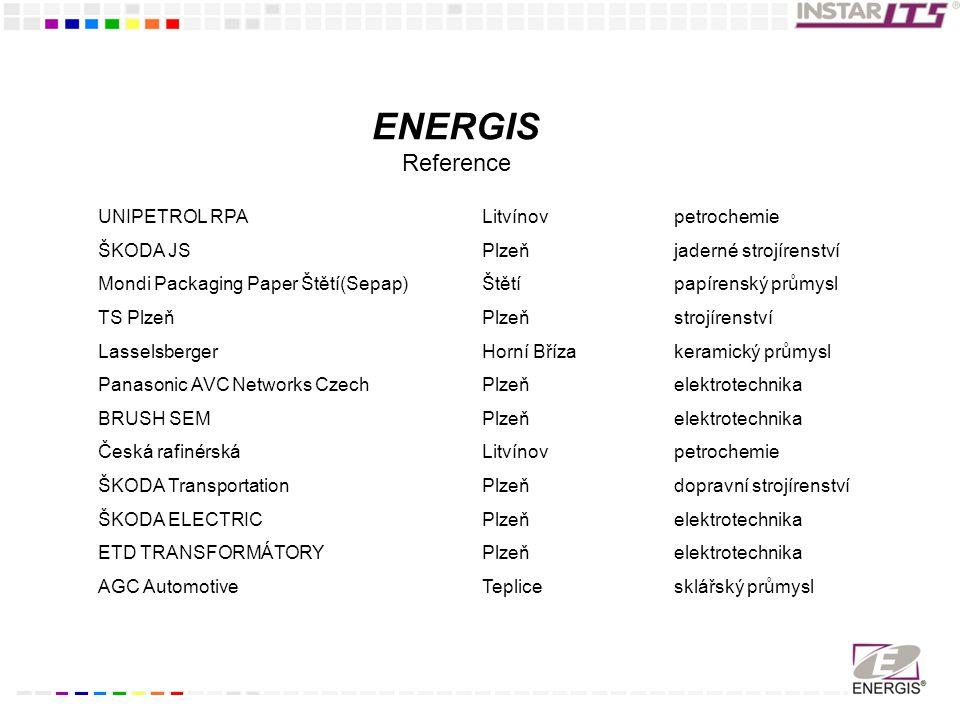 ENERGIS Reference UNIPETROL RPA Litvínov petrochemie