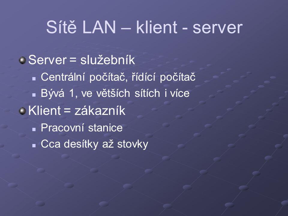 Sítě LAN – klient - server
