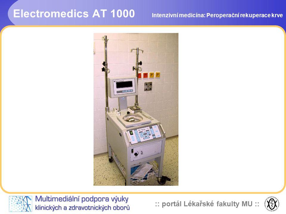 Electromedics AT 1000 Intenzivní medicína: Peroperační rekuperace krve