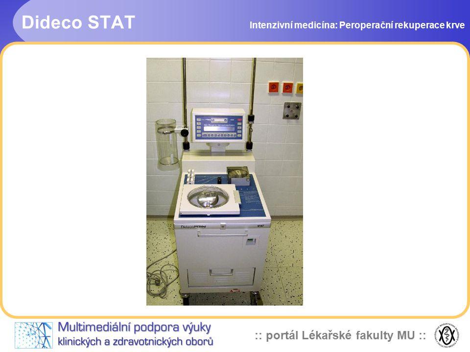 Dideco STAT Intenzivní medicína: Peroperační rekuperace krve