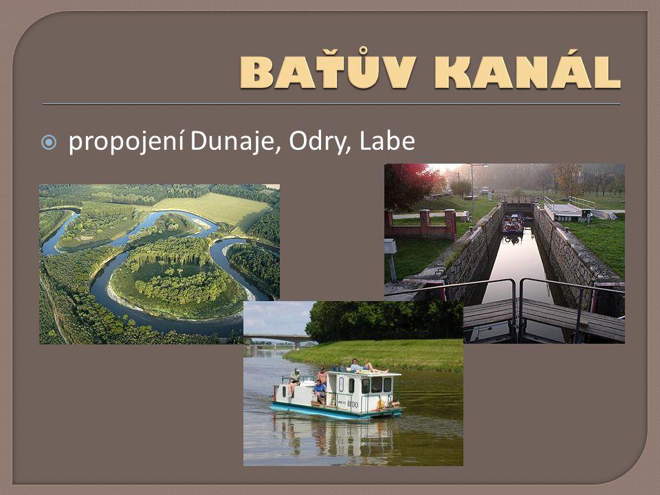 BAŤŮV KANÁL propojení Dunaje, Odry, Labe