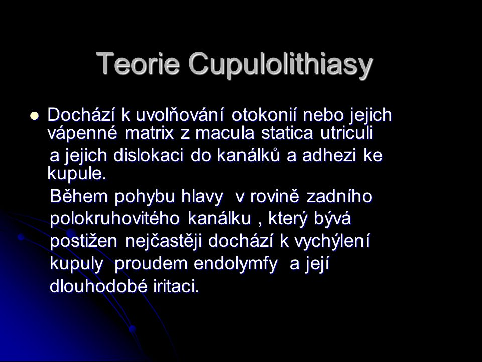 Teorie Cupulolithiasy