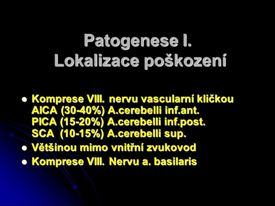 Patogenese I. Lokalizace poškození
