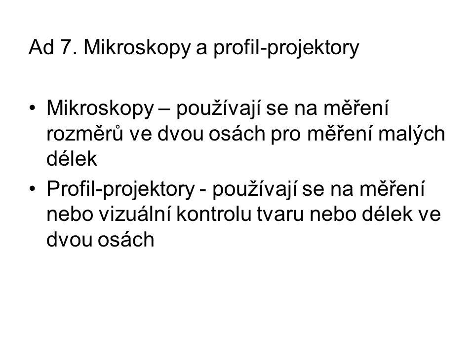 Ad 7. Mikroskopy a profil-projektory