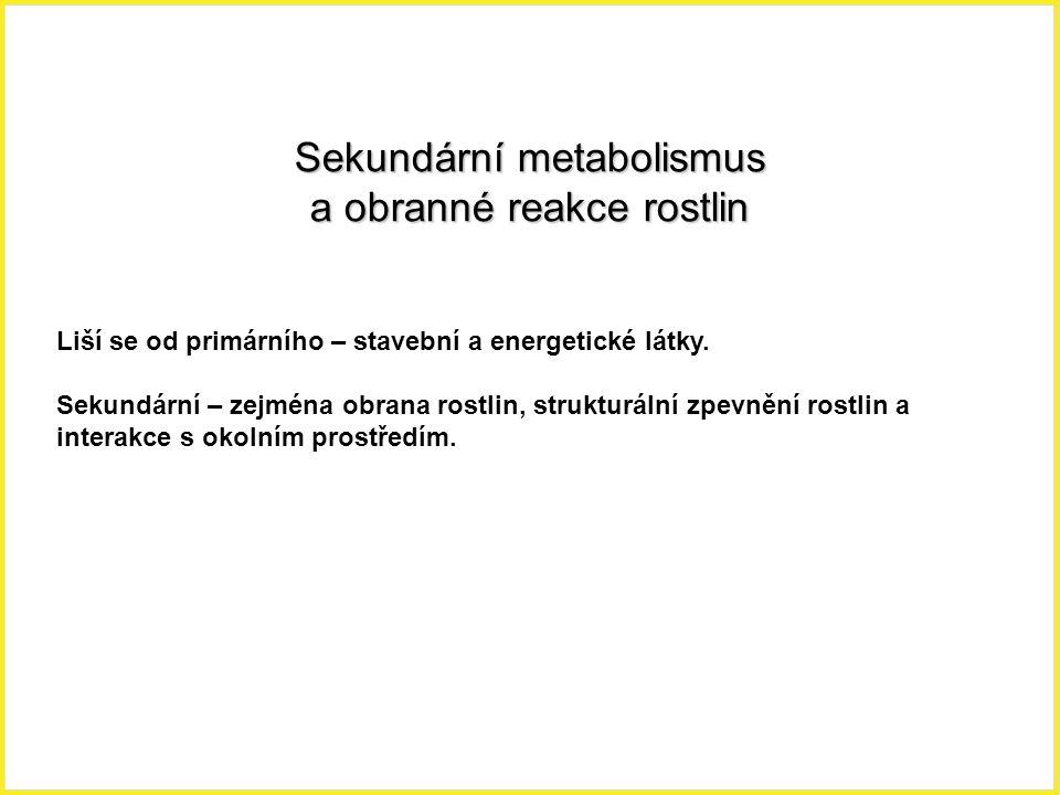 Sekundární metabolismus a obranné reakce rostlin