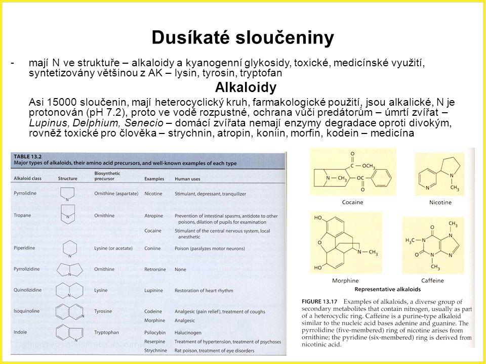 Dusíkaté sloučeniny Alkaloidy