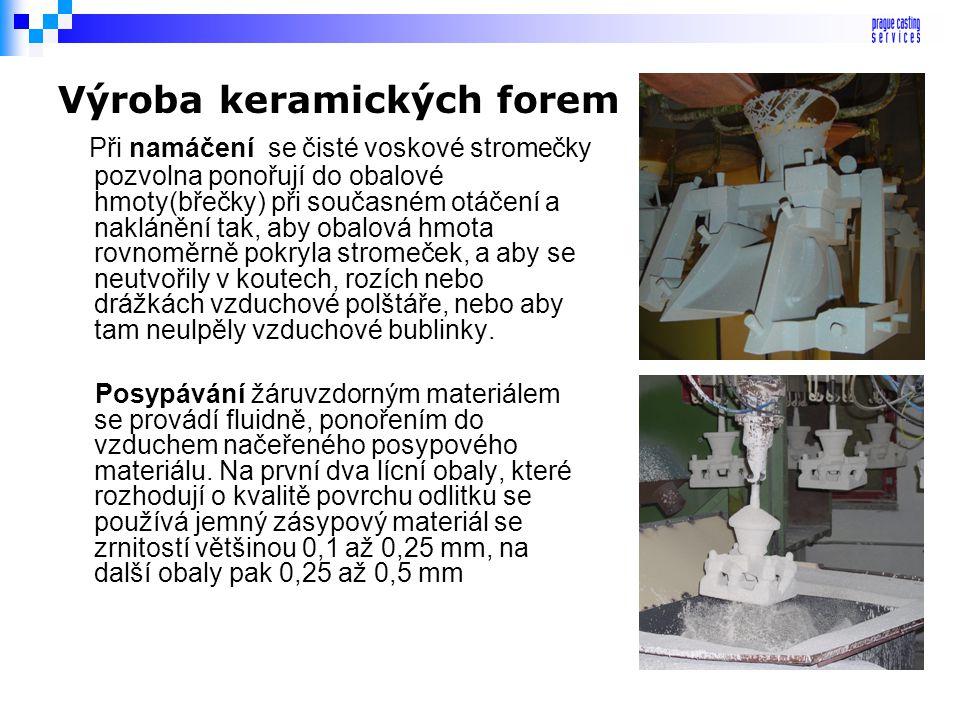 Výroba keramických forem