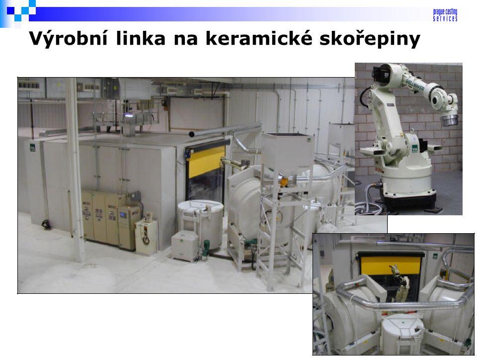 Výrobní linka na keramické skořepiny
