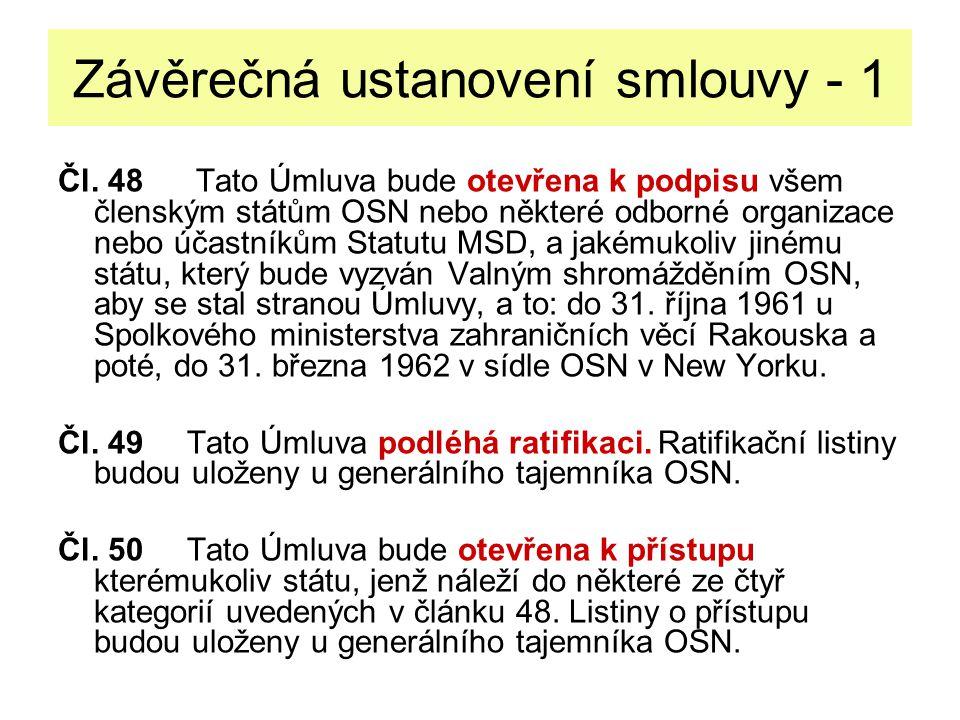 Závěrečná ustanovení smlouvy - 1