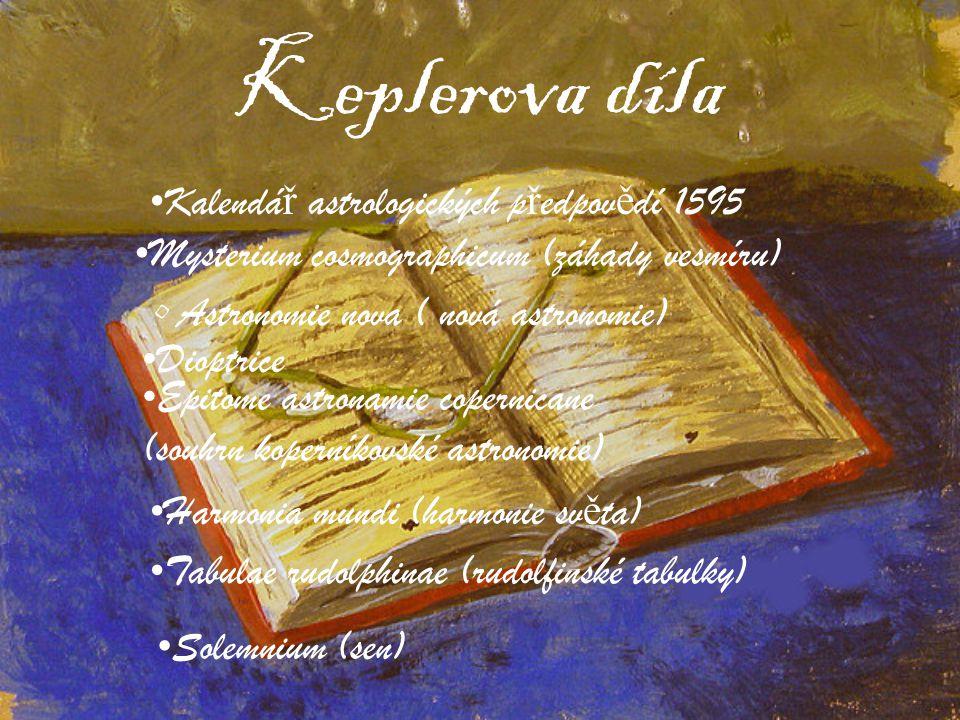 Keplerova díla Kalendář astrologických předpovědí 1595