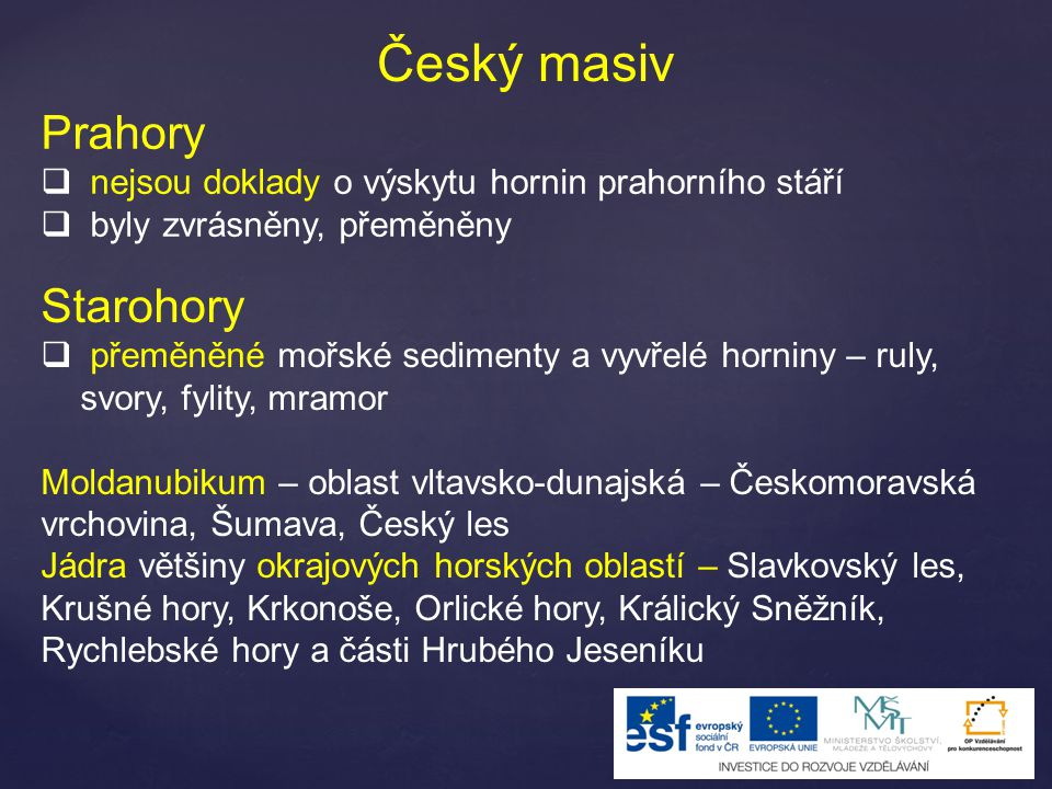 Český masiv Prahory Starohory