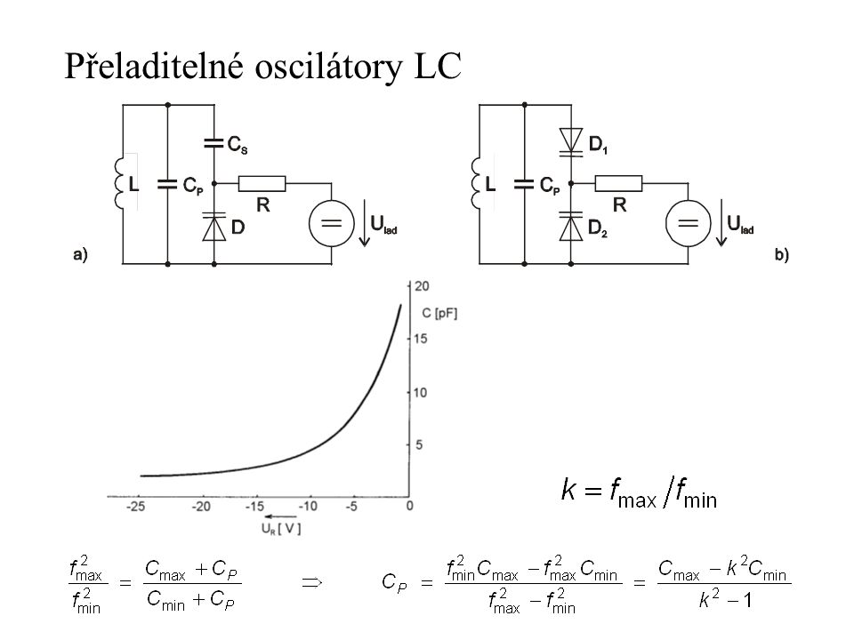 Přeladitelné oscilátory LC