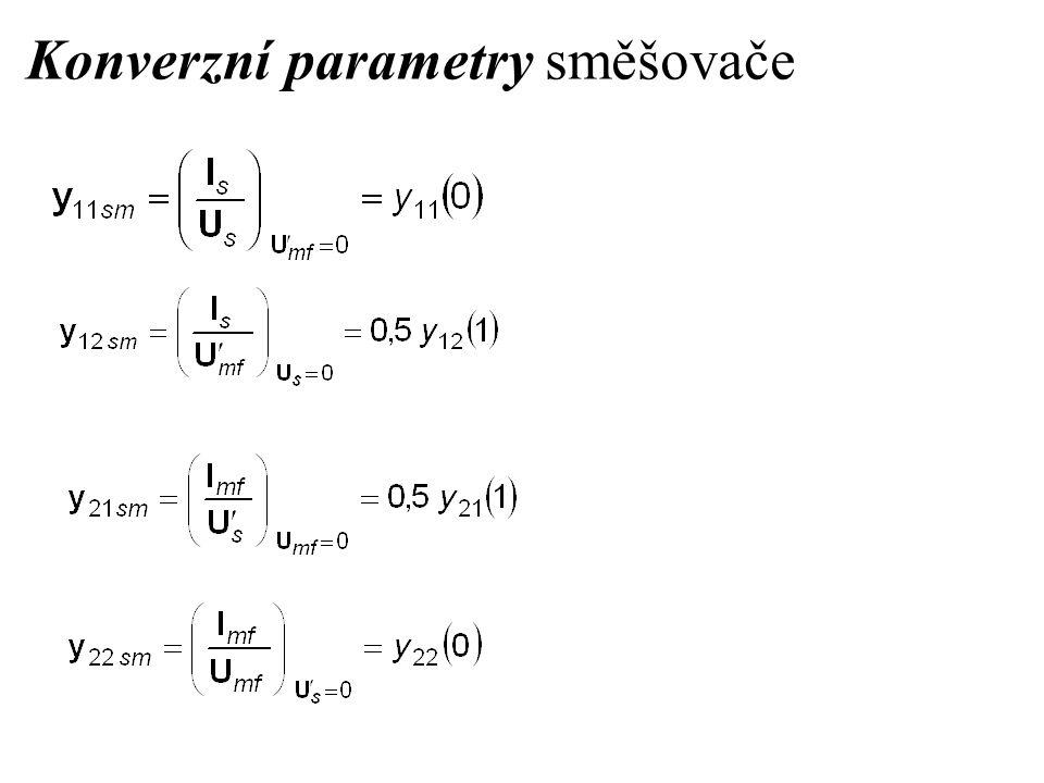 Konverzní parametry směšovače