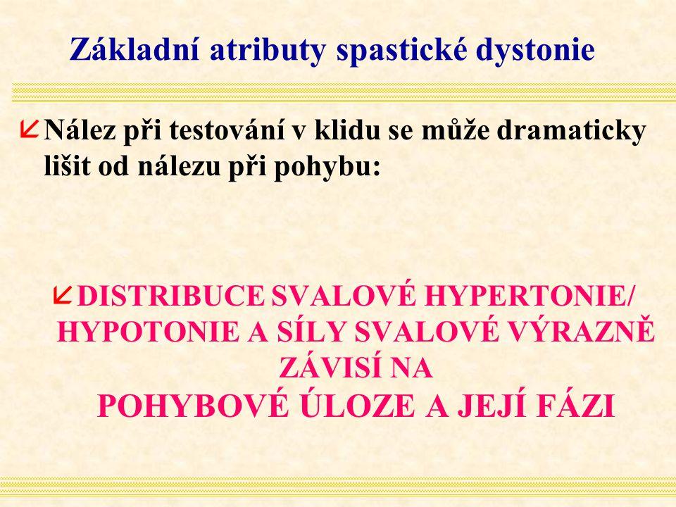 Základní atributy spastické dystonie