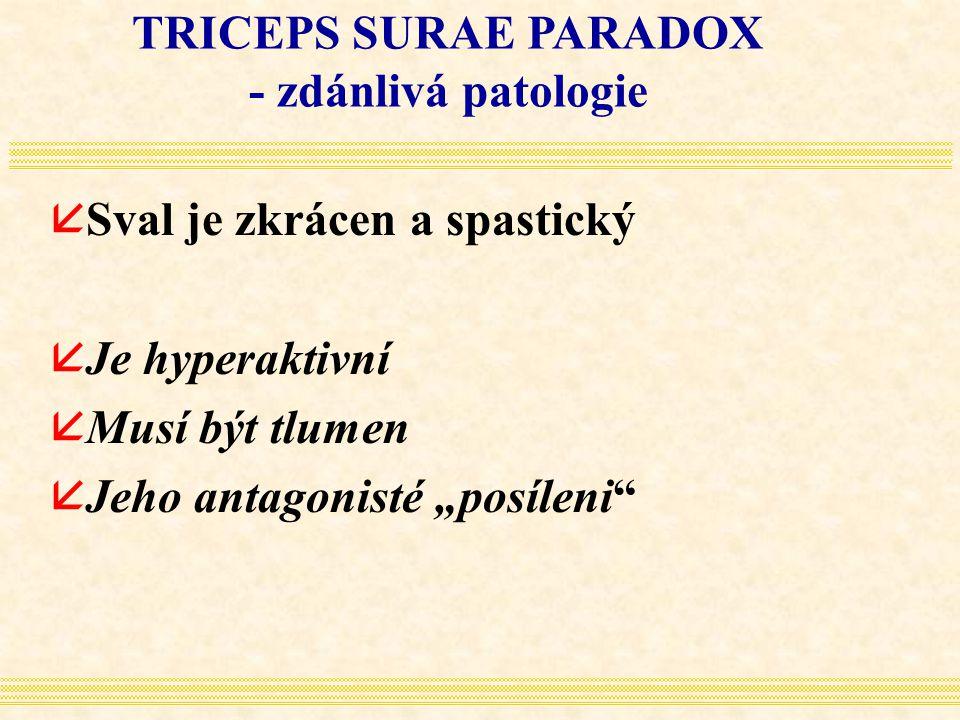 TRICEPS SURAE PARADOX - zdánlivá patologie