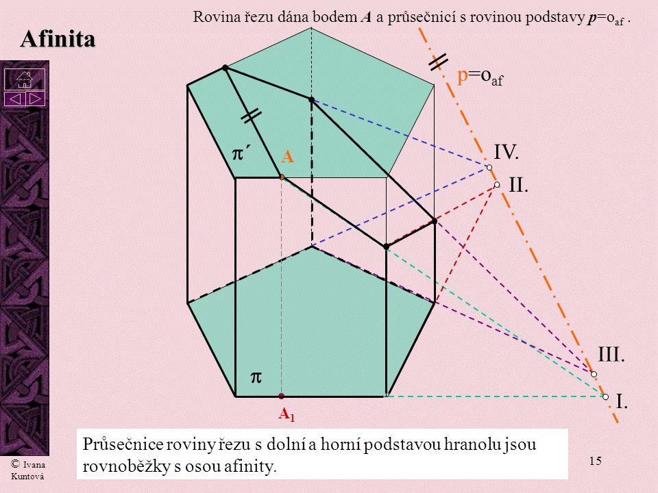 Afinita p=oaf p´ IV. II. III. p I. A