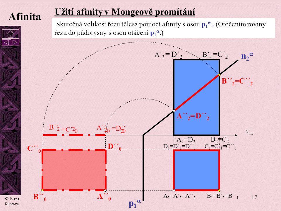 Afinita Užití afinity v Mongeově promítání n2 2 2 2 2 p1 B´´2=C´´2