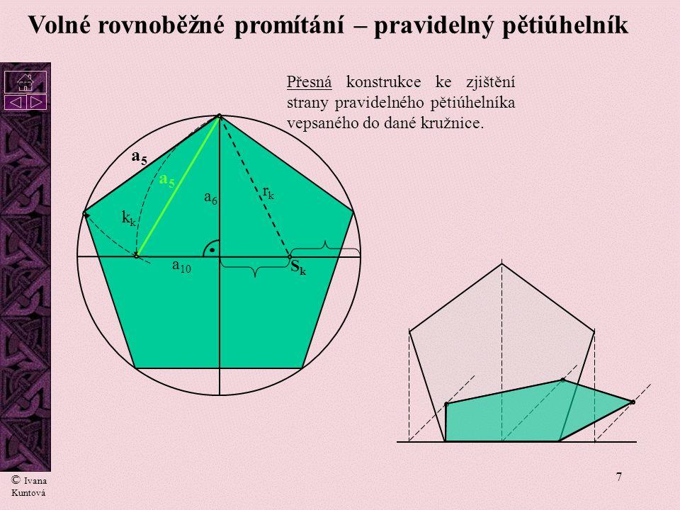 Volné rovnoběžné promítání – pravidelný pětiúhelník