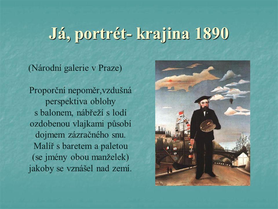 Já, portrét- krajina 1890 (Národní galerie v Praze)