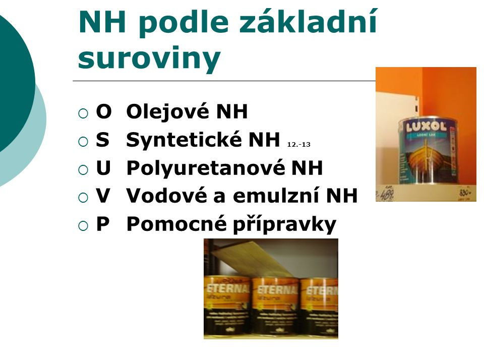 NH podle základní suroviny
