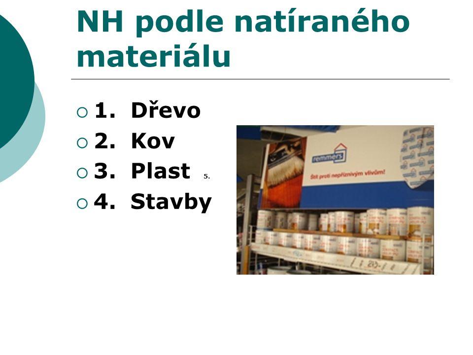 NH podle natíraného materiálu