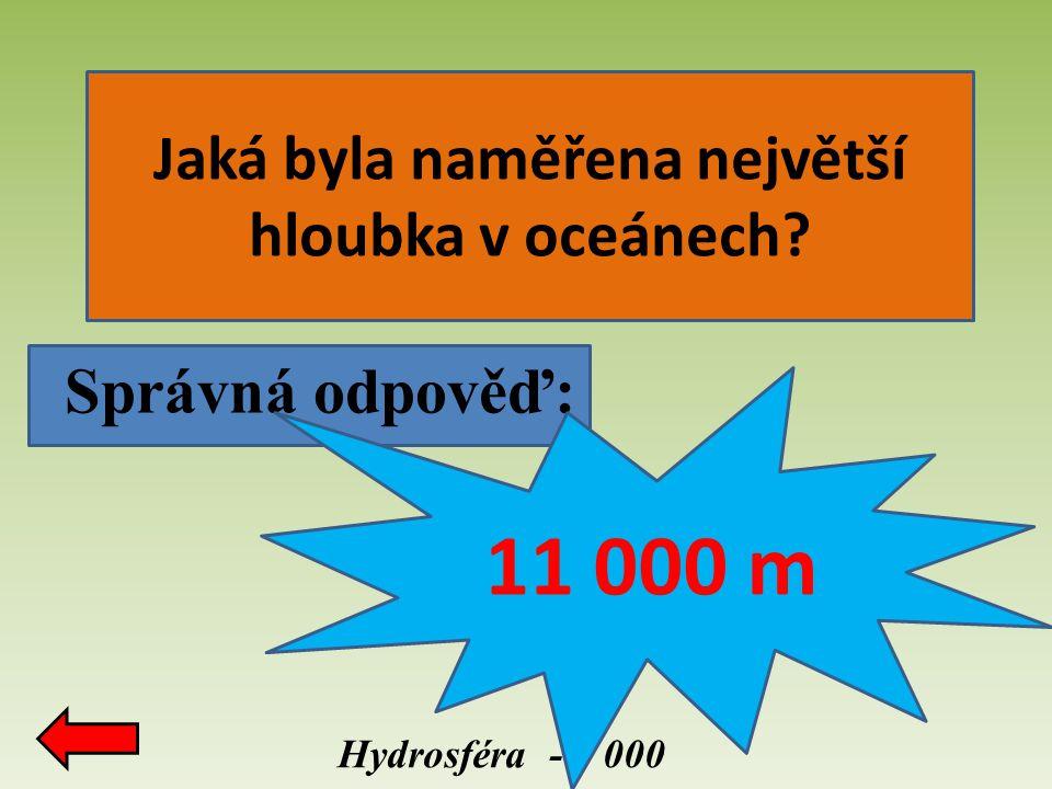 Jaká byla naměřena největší hloubka v oceánech
