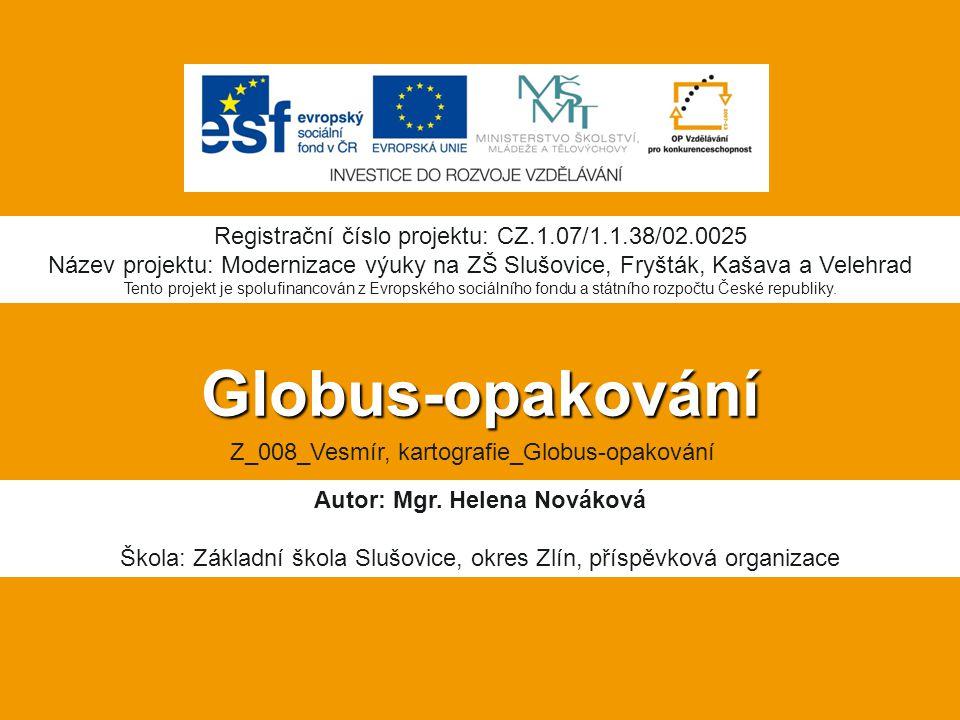 Autor: Mgr. Helena Nováková