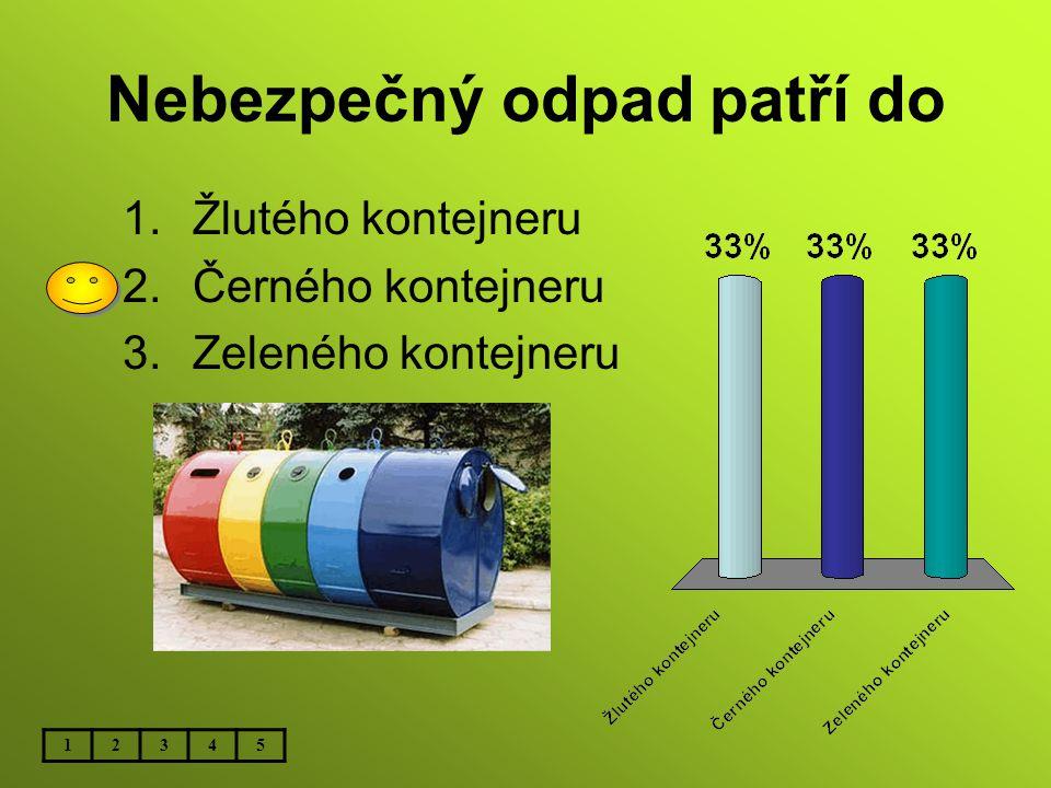 Nebezpečný odpad patří do