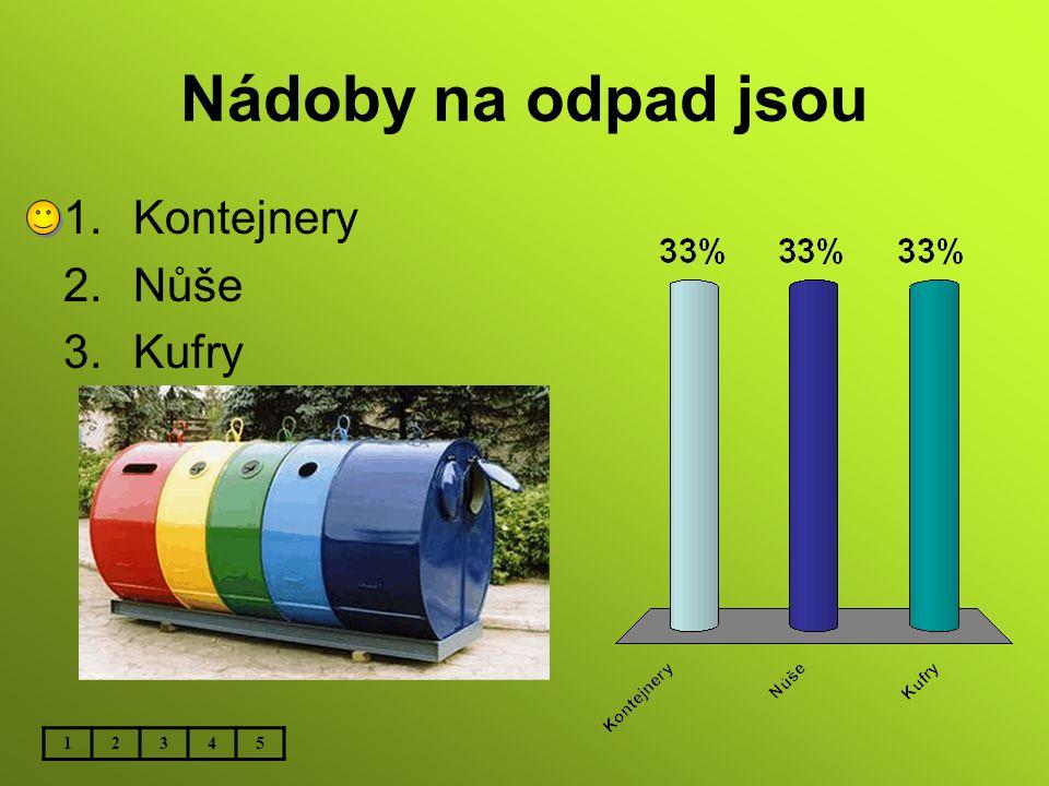 Nádoby na odpad jsou Kontejnery Nůše Kufry 1 2 3 4 5